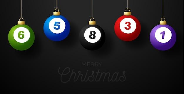 С рождеством христовым бильярдная открытка