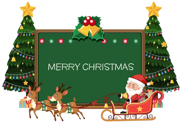 Веселая рождественская доска