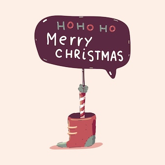 С рождеством христовым доска мультфильм иллюстрации концепции, изолированные на фоне.