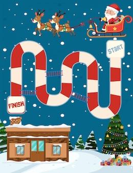 Игра веселая рождественская доска
