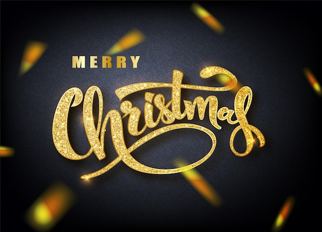 Merry christmas calligraphy lettering