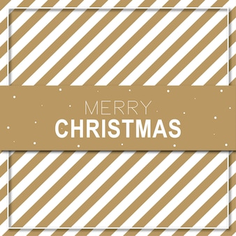 Merry christmas card background brown strip