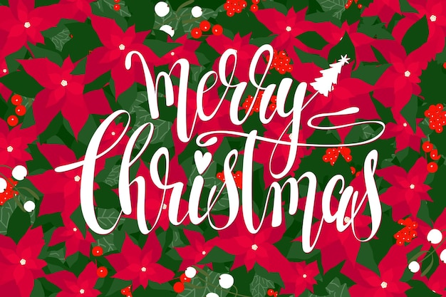 Merry christmas card background. christmas doodle lettering pattern. vector christmas original creative card template.