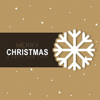 Merry christmas card background snow