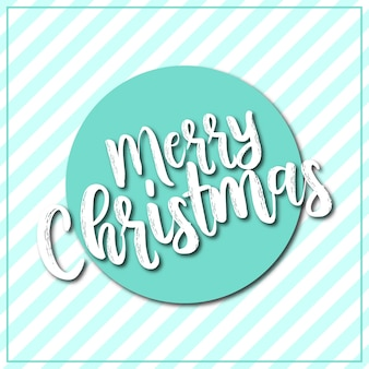 Merry christmas card background strip green