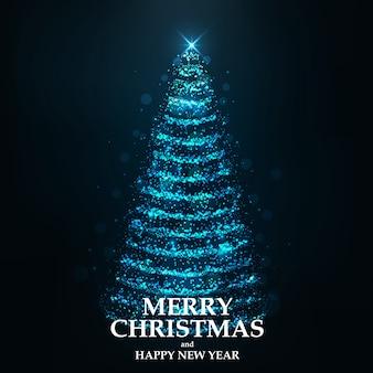Merry christmas card christmas tree