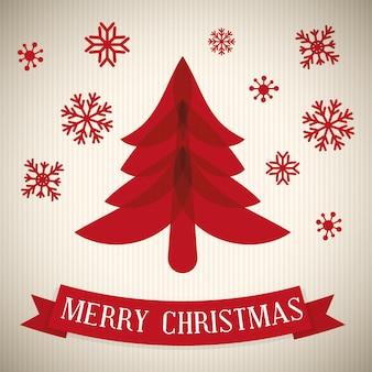 メリークリスマスカードデザイン