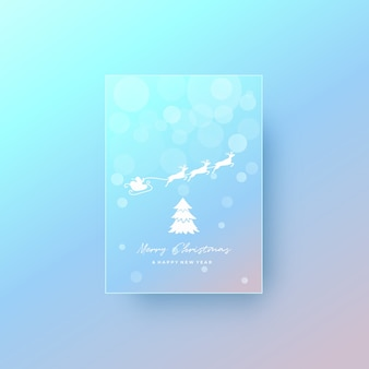 Merry christmas card greeting background