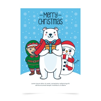 Merry christmas card invite