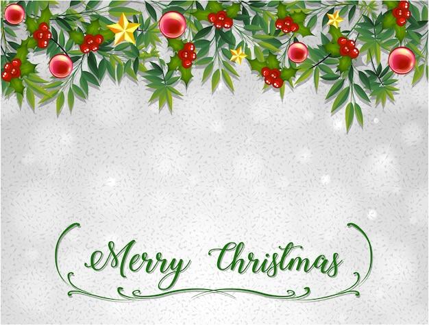 ミスレツリーのメリークリスマスカードテンプレート