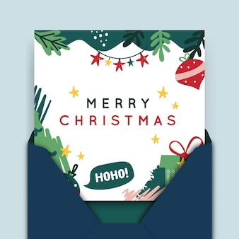 Merry christmas card template