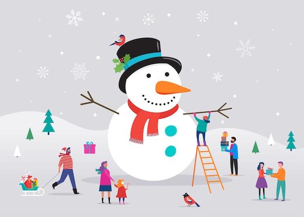Шаблон счастливой рождественской открытки