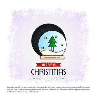 Merry Christmas card with creative design vector