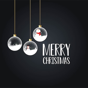 Merry christmas card with creative design
