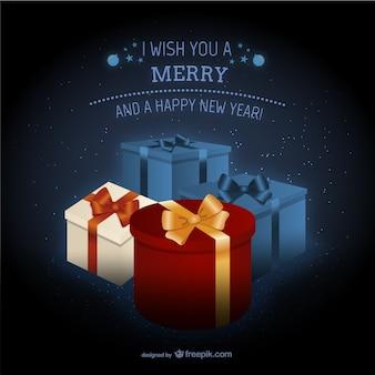 선물 메리 크리스마스 카드