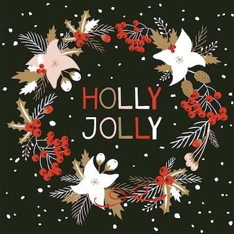 Merry christmas card.
