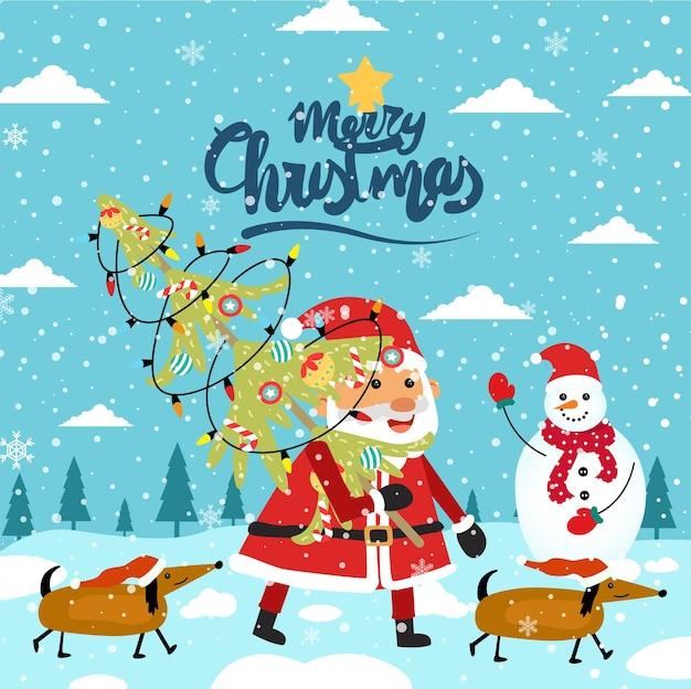 メリークリスマス漫画かわいいイラスト