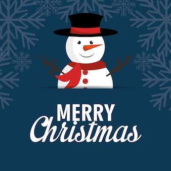Merry christmas cartoon greeting card design