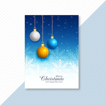 Merry christmas celebration brochure card