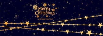 メリークリスマスの祝賀カードバナーのテンプレートデザイン