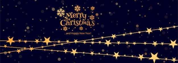 Merry christmas celebration card banner template design