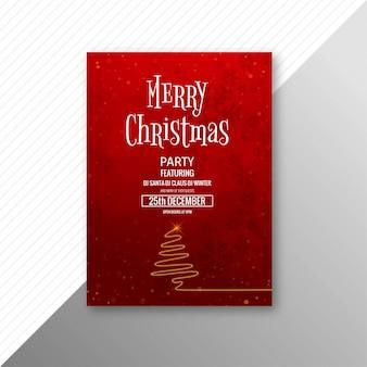 Merry christmas celebration card brochure template