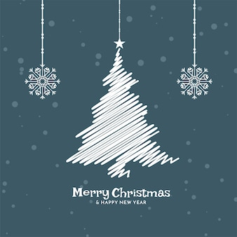 Merry christmas celebration flat design background