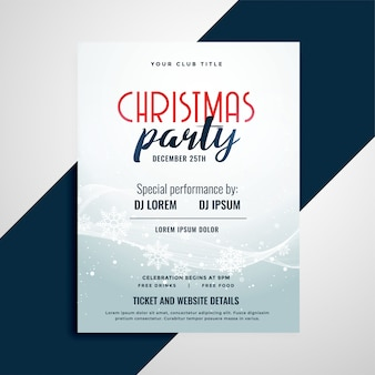 Merry christmas celebration flyer with event details space