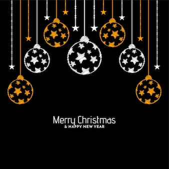 Merry christmas celebration greeting background design