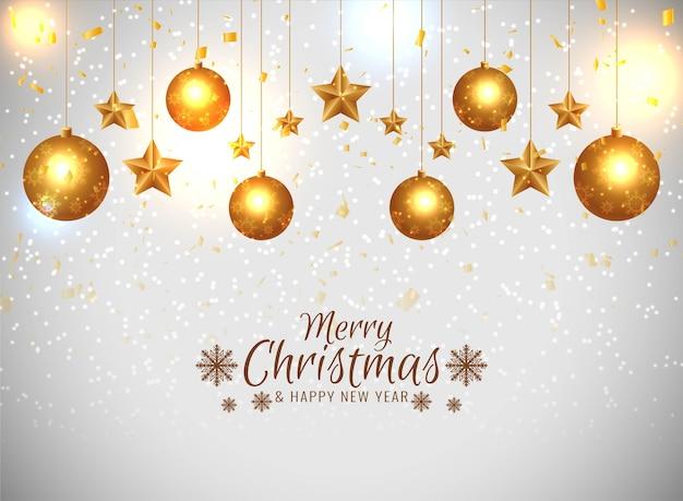 メリークリスマスのお祝いの挨拶の背景