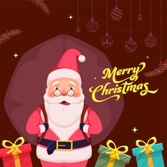 Merry christmas celebration poster design