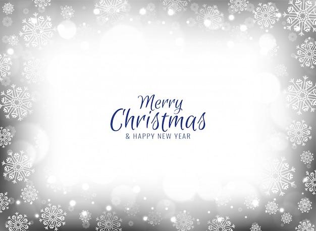 Merry christmas celebration snowflakes background