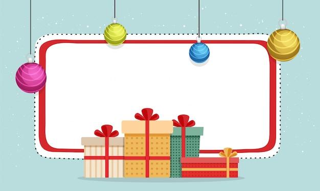 Счастливые рождественские баннеры