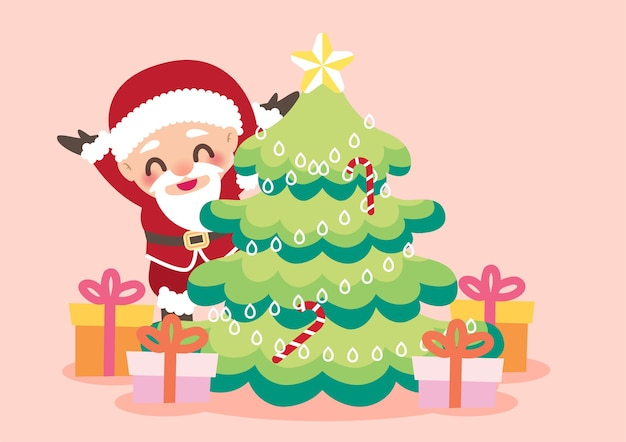 Merry christmas characters background vector