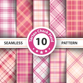 Merry christmas check plaid seamless patter