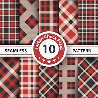 Merry christmas check plaid seamless pattern