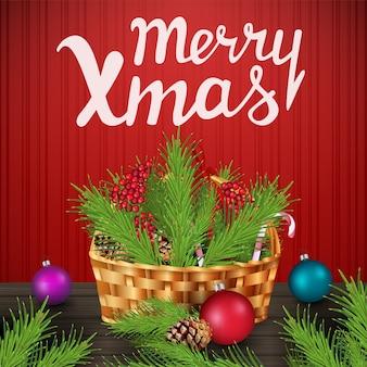 Счастливого рождества. рождественский современный баннер