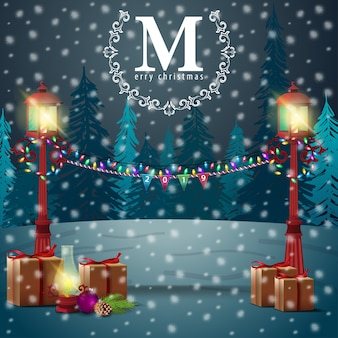 メリークリスマス。クリスマスの現代バナー