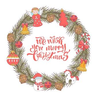メリークリスマス。クリスマスリース。