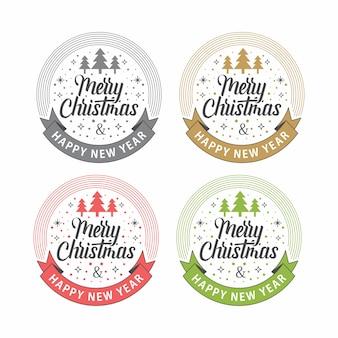 Merry christmas circle ribbon