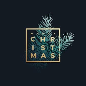 メリー クリスマスの上品なカード Premiumベクター