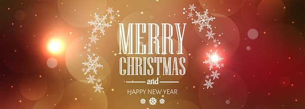 Merry christmas colorful card banner