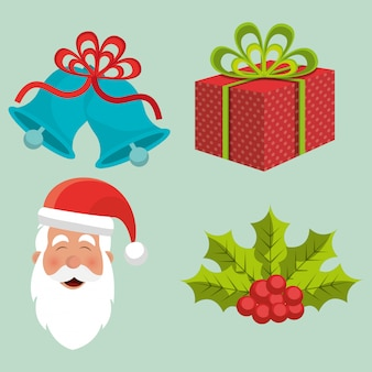 Merry christmas colorful card design