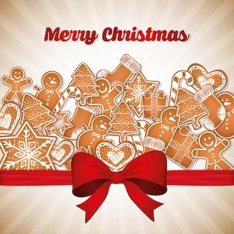 メリークリスマスカラフルなカードのグラフィック