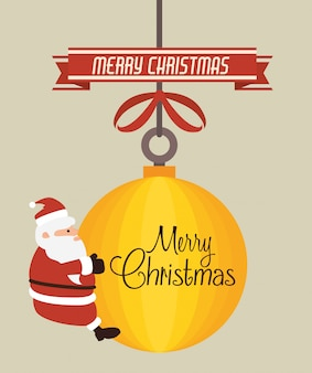 メリークリスマスカラフルカード
