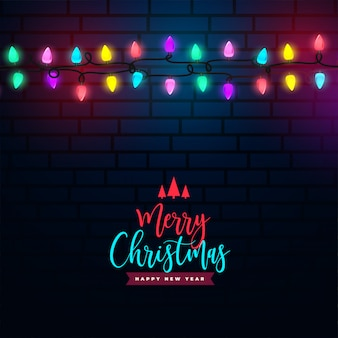 Merry christmas colorful light decoration background