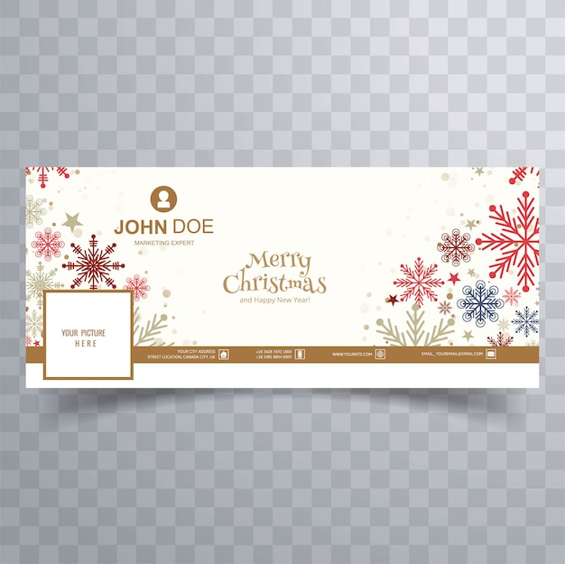 Merry christmas colorful snowflakes with  cover