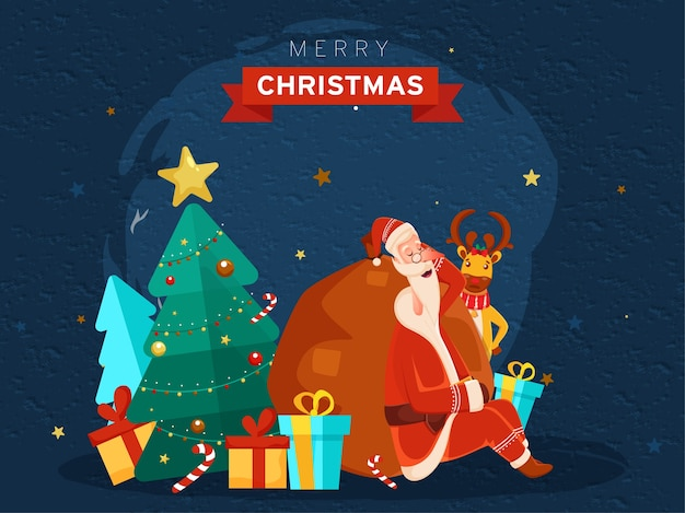 Merry christmas concept illustration