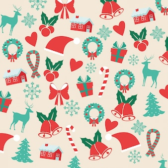 Merry christmas concept represented decoration icon set