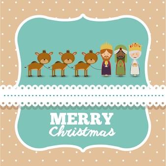 装飾アイコンデザインとメリークリスマスのコンセプト